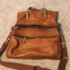 Fossil fold over messenger bag style purse